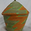 Thumbnail: Green & Orange Handwoven Basket From Uganda