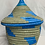 Thumbnail: Blue and Grey Handwoven Basket From Uganda
