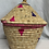 Thumbnail: Pink, Purple, and Natural Handwoven Basket From Uganda
