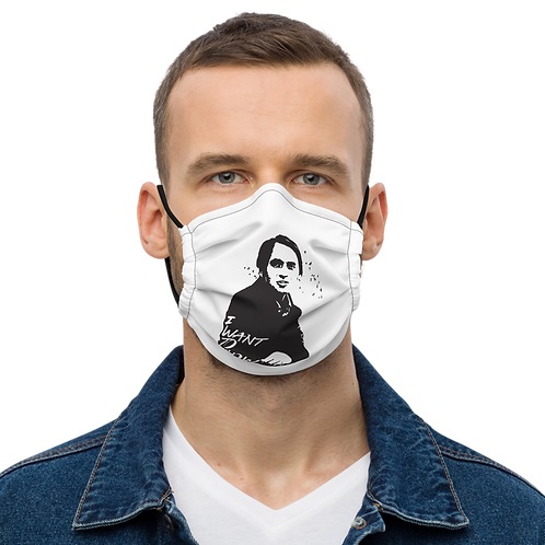 Carl Sagan Premium face mask