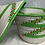 Thumbnail: Green, Red and White Handwoven Basket From Uganda