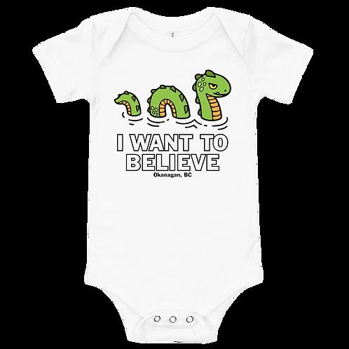 Ogopogo I Want To Believe Baby Onesie