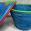Thumbnail: Blue, Green, and Red Handwoven Basket From Uganda