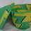 Thumbnail: Green & Yellow Handwoven Basket From Uganda