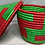 Thumbnail: Red and Green Handwoven Basket From Uganda