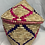 Thumbnail: Pink, Purple, and Natural Coloured Handwoven Basket From Uganda