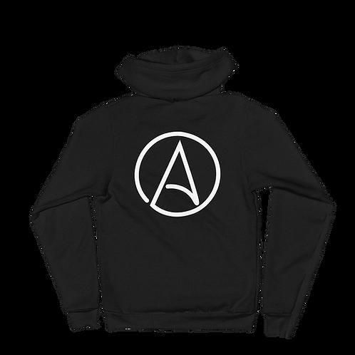 Atheist Symbol zip-up Hoodie sweater