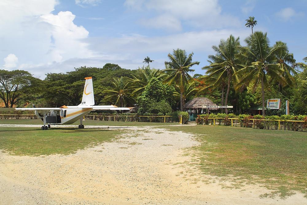 The Malolo Lailai airstrip - Plantation Island, Fiji
