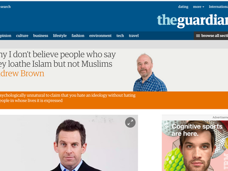 Andrew Brown's Hatred For Atheists Published In The Guardian
