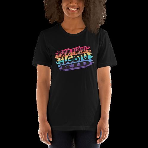 Proud parent of an LGBTQ Kid Short-Sleeve Unisex T-Shirt