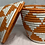 Thumbnail: White and Orange Handwoven Basket From Uganda