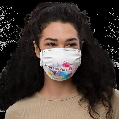 Carl Sagan Quote Premium face mask