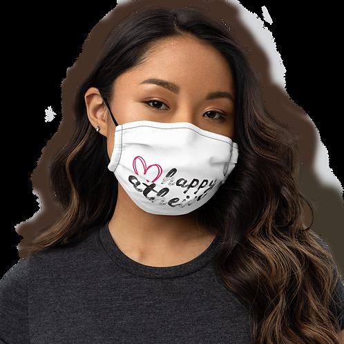 Happy Atheist Premium face mask