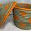 Thumbnail: Orange and Beige Handwoven Basket From Uganda