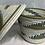 Thumbnail: White, Blue and Beige Handwoven Basket From Uganda
