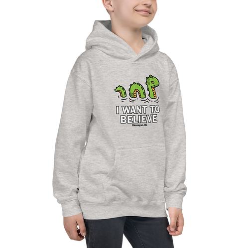 Ogopogo I want To Believe Kids Hoodie