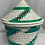 Thumbnail: Blue, Red, White, and Turquoise Handwoven Basket from Uganda