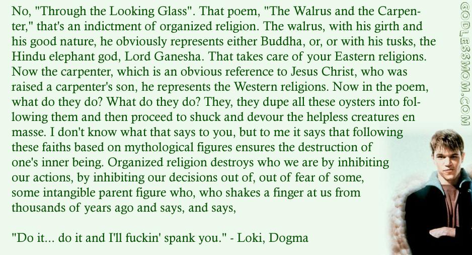 Matt Damon, Loki, Dogma