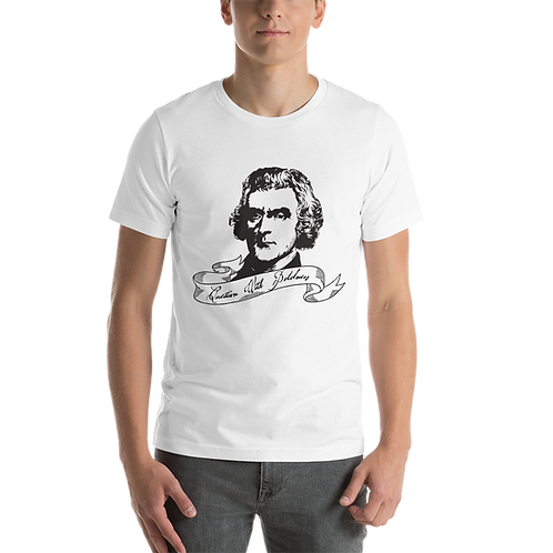 Thomas Jefferson Question With Boldness Short-Sleeve Unisex T-Shirt