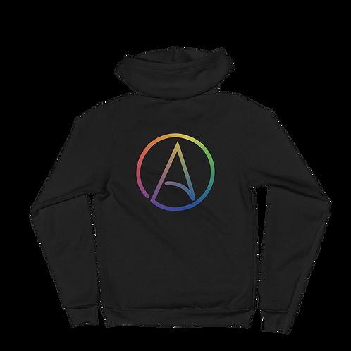 LGBTQ+ Atheist symbol Zip-up Hoodie sweater