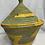 Thumbnail: Yellow, Beige, Pink, Green, and Orange Handwoven Basket From Uganda