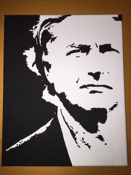 Hand painted Richard Dawkins