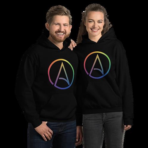 LGBTQ+ Atheist Symbol Unisex Hoodie
