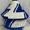 Thumbnail: Blue and White Handwoven Basket from Uganda