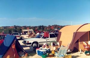 Our orange tent