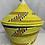 Thumbnail: Yellow, Tan, Blue, and White Handwoven Basket From Uganda