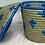 Thumbnail: Blue and Grey Handwoven Basket From Uganda