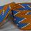 Thumbnail: Orange, Blue & White Handwoven Basket From Uganda