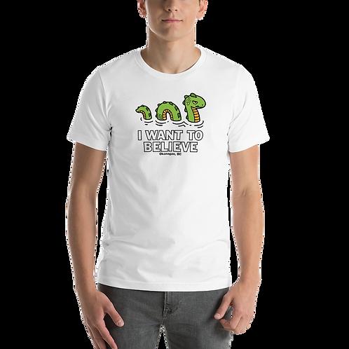Ogopogo I Want To Believe Short-Sleeve Unisex T-Shirt