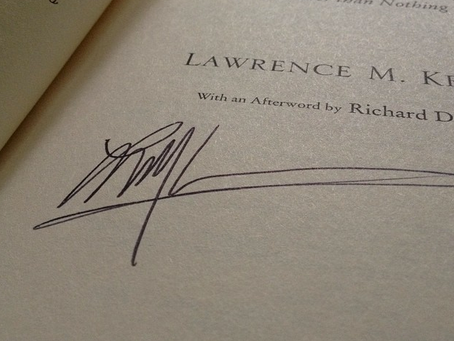 Every Atheist Needs: A Signed Copy of A Universe From Nothing