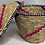 Thumbnail: Pink, Purple, and Natural Handwoven Basket From Uganda