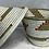 Thumbnail: White, Beige, Orange, and Red Handwoven Basket From Uganda