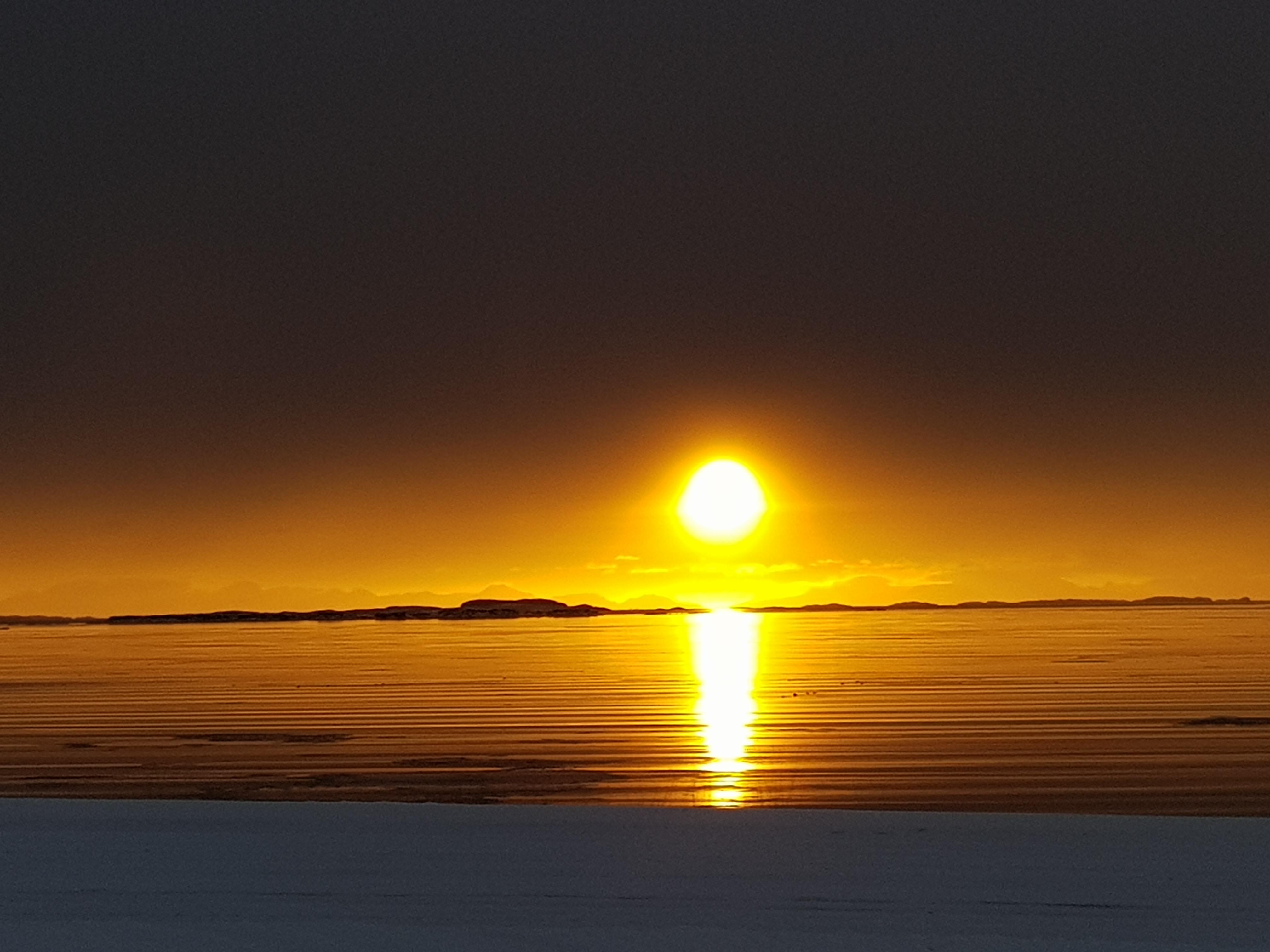Sólarlag á Breiðafirði
