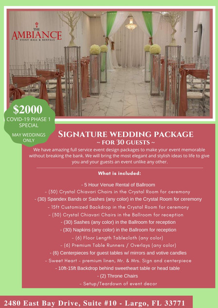 Ceremony/Reception Package