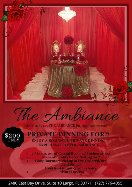 Private Dinning for Two