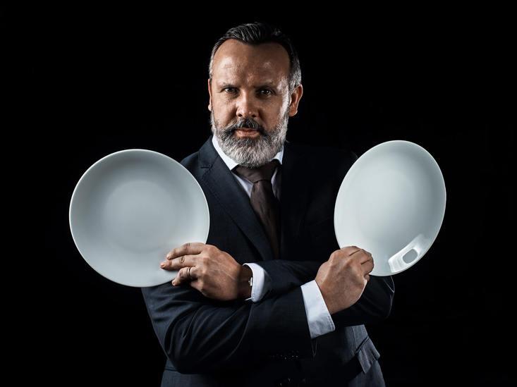 мужской бизнес портрет. управляющий рестораном