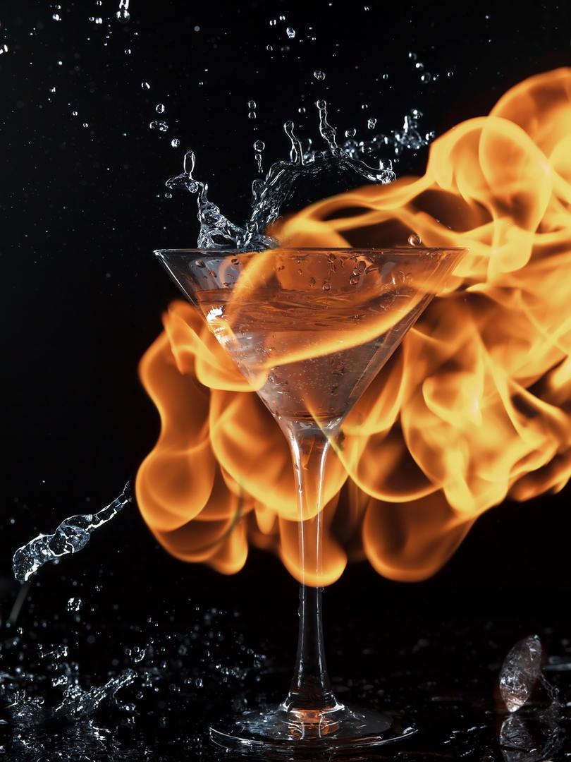 Предметная фотосъемка. Лед и пламя