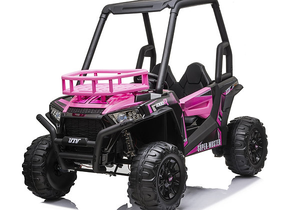PRE ORDER - Pink 2 Seater Off Road UTV 24V Electric Ride On Car For Kids