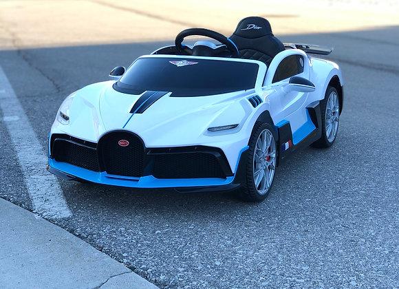 Licensed White Bugatti Divo Kids Ride On Car