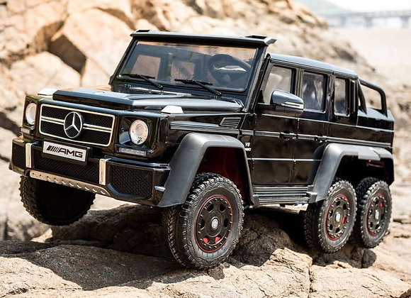 PRE ORDER - Large 24V Black Mercedes Benz G63 6x6 Electric Ride On For Kids