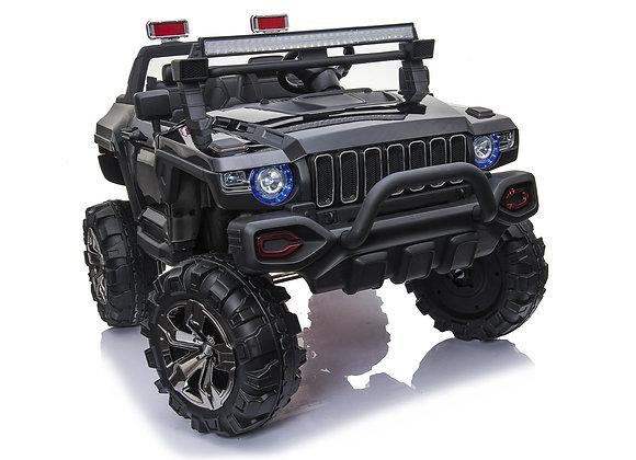 PRE ORDER - Black Police Truck 4x4 12V Electric Ride On Car For Kids