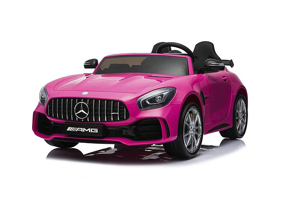 12V Pink Mercedes GTR AMG 2 Seater Electric Ride On Car For Kids