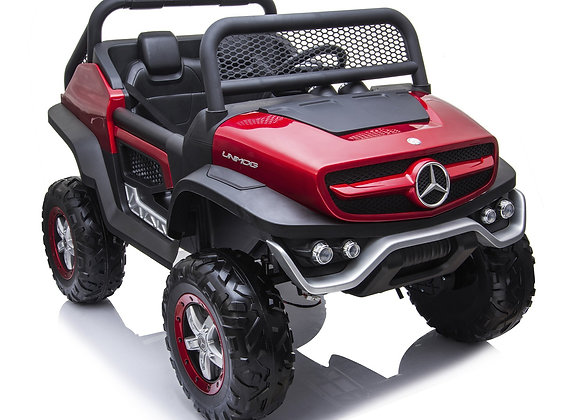 PRE ORDER 12V Red Mercedes Benz Unimog Electric Ride On For Kids