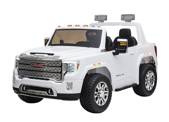 Licensed 2 Seater White GMC Denali Electric Ride On Car For Kids