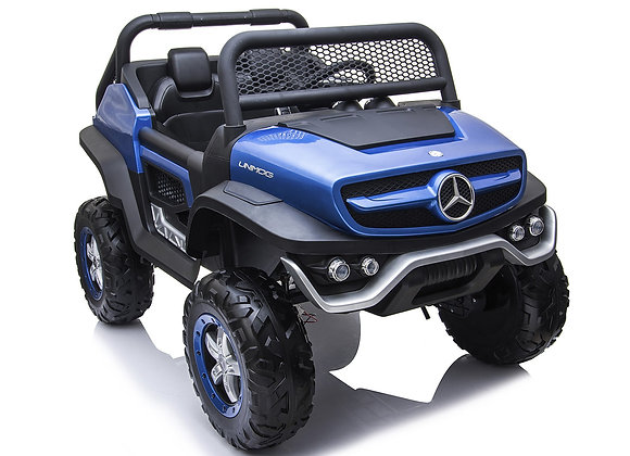 24V Blue Mercedes Benz Unimog Electric Ride On For Kids