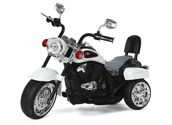 White Chopper Style Electric Ride On Bike
